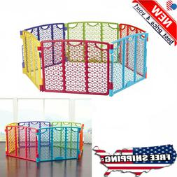 North States Superyard Colorplay Ultimate 6-Panel Play Yard: