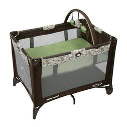 GRACO PACK N PLAY ON THE GO PLAY YARD WITH BASSINET,ZUBA