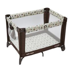 Portable Play Yards Play Pen Pack Playard Travel Durable Fra