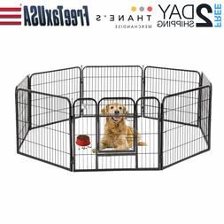 Pet Playpen Dog Heavy Duty Exercise Pen Cat Fence B 32 Inch