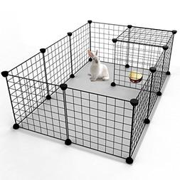JYYG Pet Playpen, Small Animal Cage Indoor Portable Metal Wi