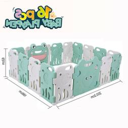 Plastic Baby Playpen 16 Panels Kids Activity Center Play Yar