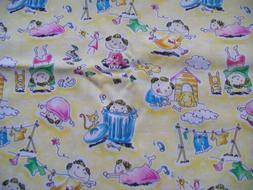 Play Pals Kids Fabric Dogs Cats Playing Fun 1 1/3 Yards mate