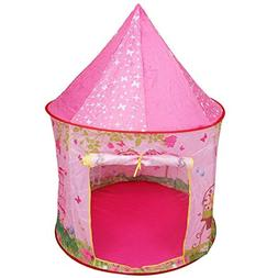 Costzon Kids Play Tent, Portable Camping Playhouse for Girls