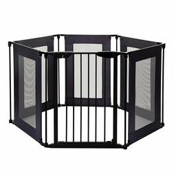 Play Yard Baby Safety Barrier Gate Home Fence Metal 6 Panels