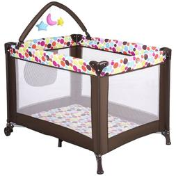 Baby Play Yard Playpen Portable Babysuite Playard Infant Cri