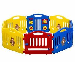 Baby Playpen 14 Panel Play Yard Safety Center Home Indoor Ou