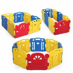 Baby Playpen 8 Panel Foldable Kids Safety Play Fence Indoor/