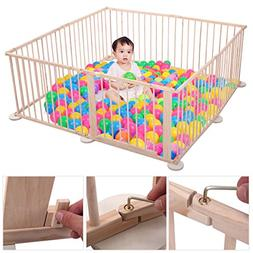 JAXPETY Baby Playpen Kids Safety 8 Panels Play Center Yard H