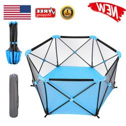 Portable Baby Playpen Indoor & Outdoor Safety Kids Play Cent