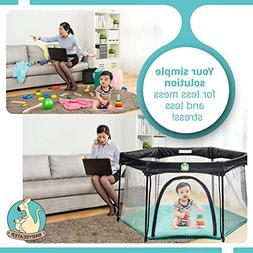 Portable Baby PlayPen Playard For Infants w/Carrying Case, E