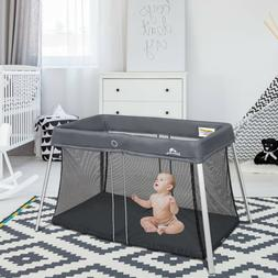 Portable Baby Playpen Playard Mattress Safety Baby Play Pen
