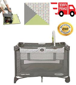 Portable Play Yard Play Airy Mesh Toy Bar With Soft Toys Tra