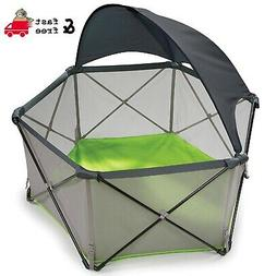 Portable Playard 1/2 Removable Canopy Summer Infant Pop N Pl