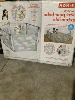 Skip Hop Portable Baby Playard Expandable Enclosure, Silver