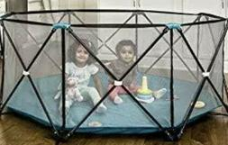 Regalo REG-1370DS Panel Foldable Mesh Childrens Play Yard &
