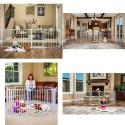 Regalo 1350 4-in-1 Configurable Metal Play Yard White