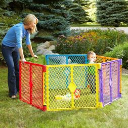 Safe Secure 6-Panel Play Yard, Portable, Multi-Colored, Conv