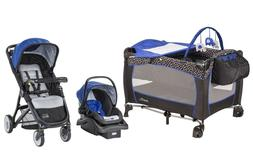 Baby Stroller with Car Seat Travel System Evenflo Playard In