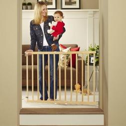 """North States Tall Stairway Swing Gate 28""""-42"""", Top of Stairs"""