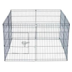 Tall Wire Fence Pet Dog Cat Folding Exercise Yard 8 Panel Me