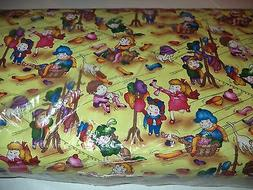 VINTAGE CHILD'S PLAY PRINT FABRIC  - 14 YARDS IN STOCK - BY