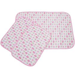 MyKazoe Waterproof Bassinet Play Yard Pad & Lap Pads - Set o